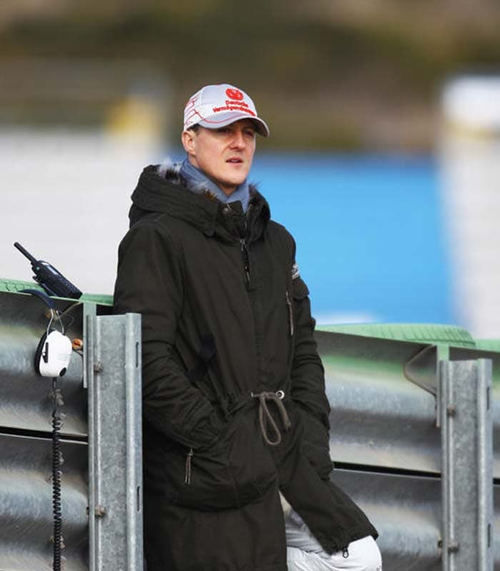 Schumi has also said that although he expects to have a better season than 2010, he's not thinking about the title yet. He added that he has been realistic about his chances after the comeback. (Getty Images)