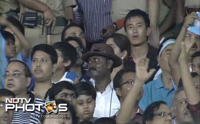 Former India footballer Bhaichung Bhutia is watching the friendly match between Argentina and Venezuela with actor Rahul Bose in Kolkata. (NDTV Photo)