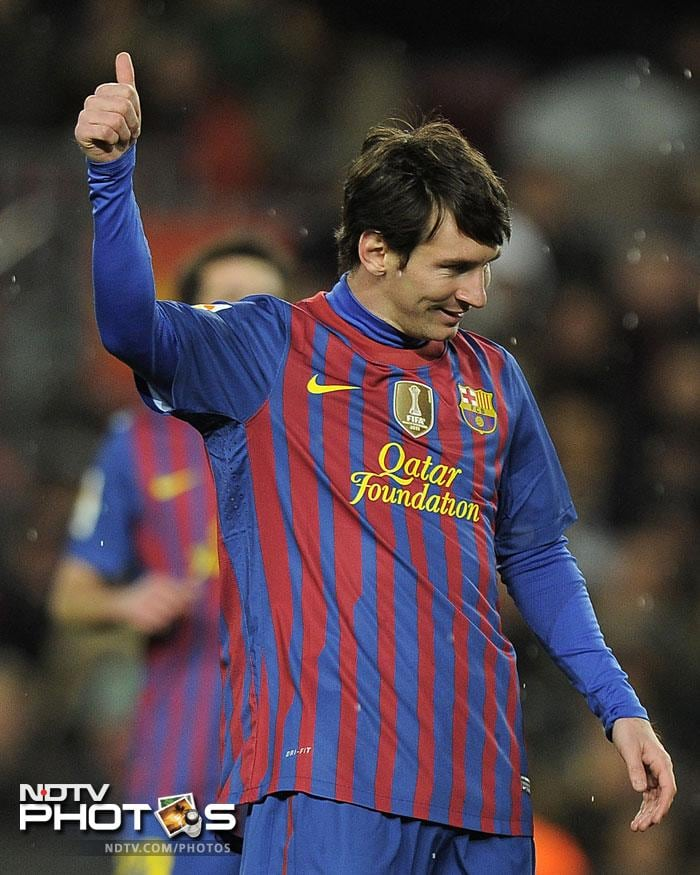 Lionel Messi became the leading scorer for Barcelona in international competitions as he increased his tally past Cesar Rodriguez's 57-year-old record of 232 goals.