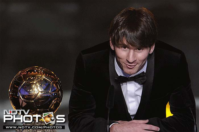 2010-11: Wins the 2010 FIFA Ballon d'Or, which from this year on is merged with the FIFA World Player of the Year award, beating his Barcelona teammates Xavi and Iniesta. This is the fourth consecutive year that he is nominated for the award. Scores more than 50 goals, finishing with 53 in 55 games - a club record for most goals scored in a season in all competitions. Also nets a record-equalling 12 goals in the UEFA Champions League, emulating Ruud van Nistelrooy's prolific run in 2002–03.<br><br> The 12 Champions League goals include a goal scored in the final against Manchester United that helps Barcelona to their third title in six years and fourth overall. Barca also retain La Liga for the third in a year row.