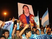 Photo : Fan frenzy for 'Leo' Messi