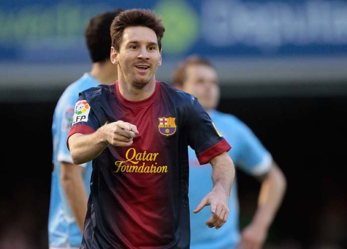 Lionel Messi, who scored Barca's second goal in their 2-2 draw at Celta Vigo, notched up his 43rd league goal of the campaign which also secured another record for the World Player of the Year.