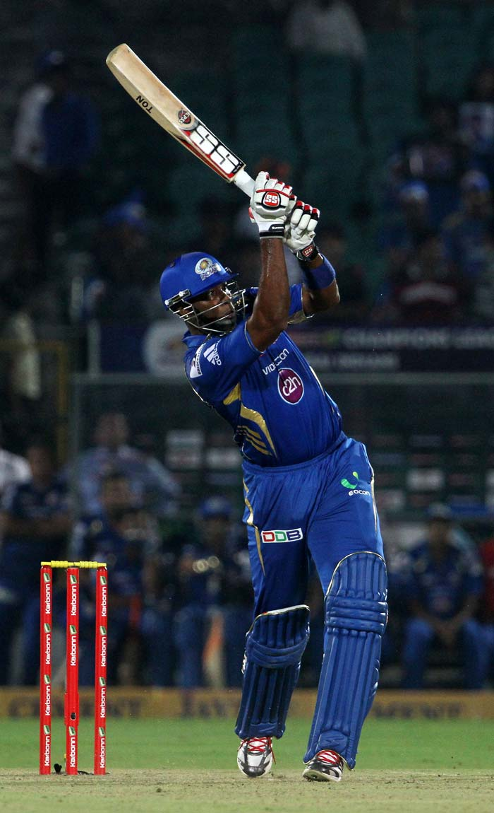 Kieron Pollard gave the Mumbai innings much-needed impetus towards the end. The total of 142 for 7 was just about fighting one for Mumbai but not par at in Jaipur.
