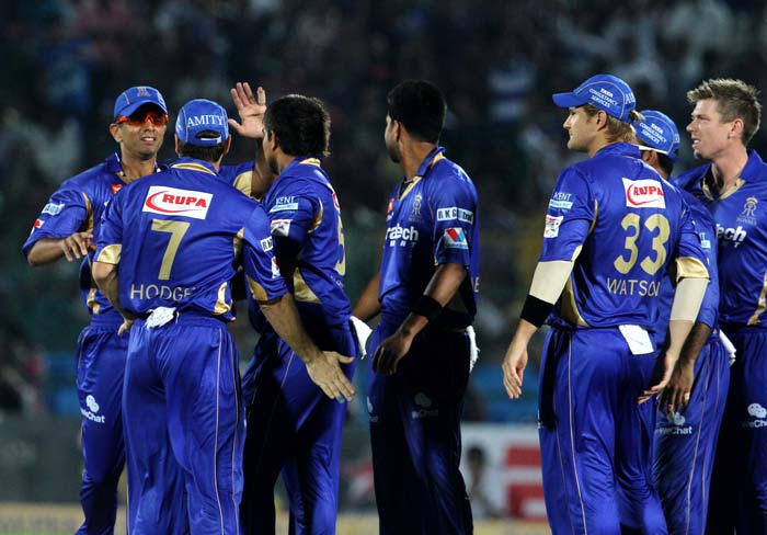 Rajasthan Royals ruled the roost in the first ten overs, reducing Mumbai to 53 for 4 at the halfway stage.