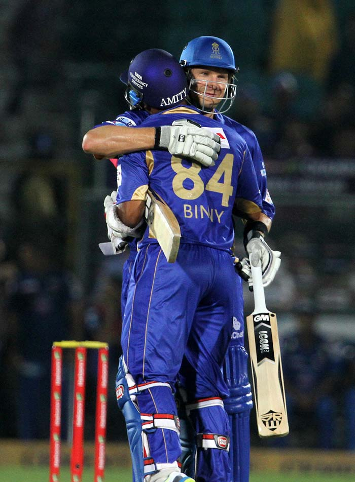 Once Rahane fell, Shane Watson took his time settling into the innings as the asking run rate was not difficult for Rajasthan. Later, when Samson was out, Watson combined with Stuart Binny to take the Royals to a resounding 7-wicket win, with two balls to spare. Watson and Binny, both scored 27 each.