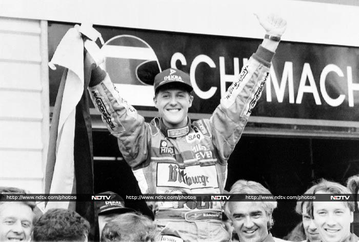 In his debut race, Schumacher qualified in the seventh place - the team's best in the season. He may have retired from the race eventually with clutch problems but here was a racer who had the F1 fraternity raving about him already. <br><br>He was subsequently signed by Benetton-Ford for whom, he finished the season with four points. <br><br>In 1992, Schumacher got his first podium finish when he finished third in the Mexican GP. He went on to finish third in the drivers' championship.