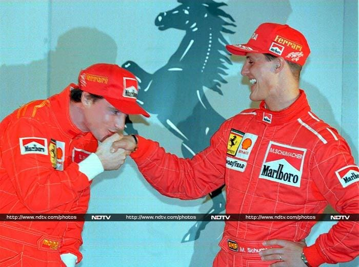Schumacher was signed by Ferrari in 1996 and this was a partnership that dominated F1 for several years after. <br><br>He had won the title twice by now and with Ferrari, he added five more - 2000, 2001, 2002, 2003 and 2004.