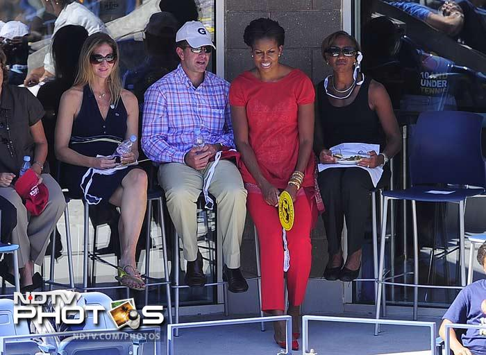 Michelle was at the USTA Billie Jean King National Tennis Centre for the match.