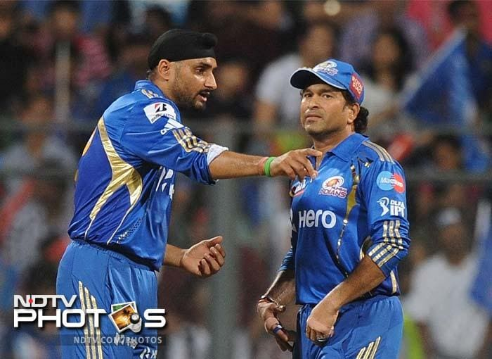 Mumbai captain Harbhajan Singh's return to capturing wickets was probably the brightest spot for the team. He took 2/13 in four overs. (AFP PHOTO/Punit PARANJPE)