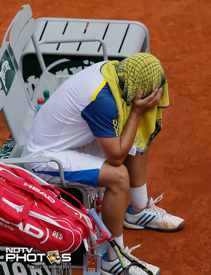 Youzhny boiled over after he slipped a set and 3-0 down to Tommy Haas in the last-16 at Roland Garros with the random act of violence becoming an instant YouTube hit.