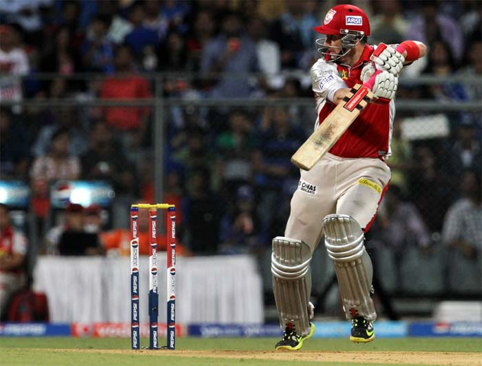 David Hussey played a good knock of 34 but perished at the crucial stage. (Image credit BCCI)