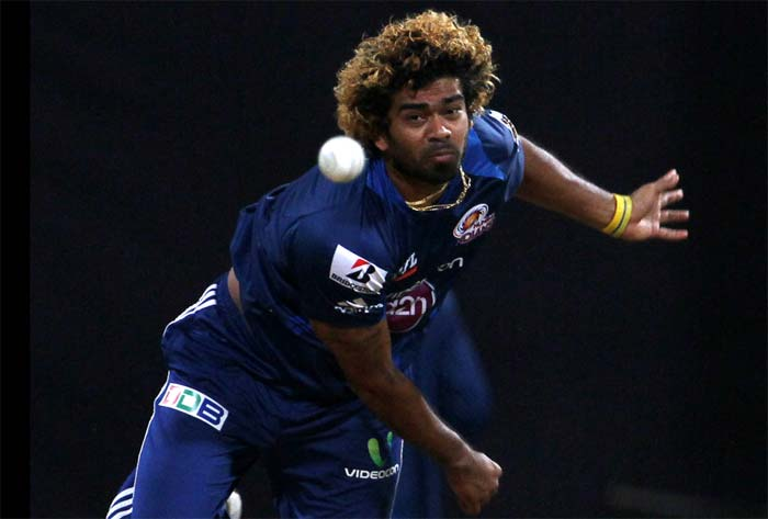 Lasith Malinga dismissed Mandeep Singh to push Punjab back early on. (Image credit BCCI)