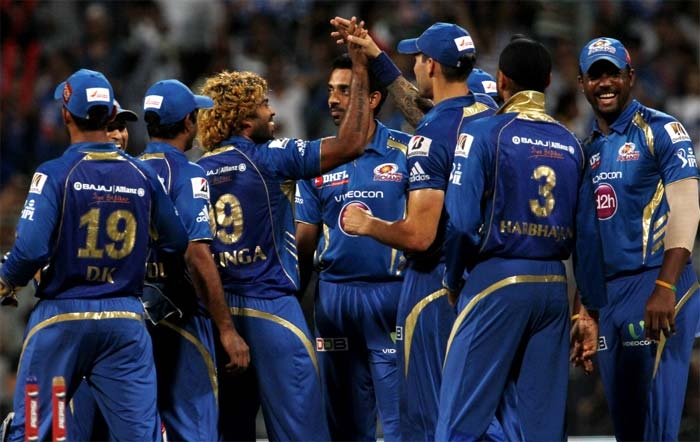 Mumbai Indians scraped through by 4 runs to beat Kings XI Punjab in Mumbai in the 2013 edition of the Indian Premier League. (Image credit BCCI)