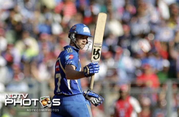 James Franklin led the charge with 79 off 51 as Mumbai Indians posted 163/6 against Kings XI Punjab. (AP Photo/ Rajanish Kakade)