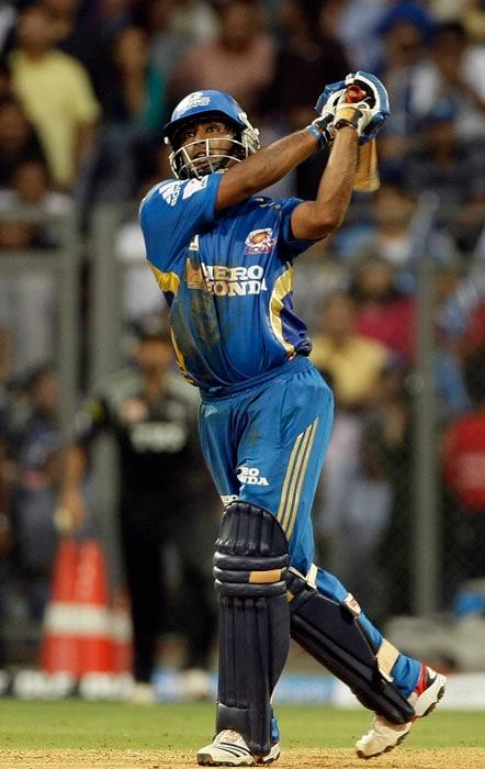 Mumbai Indians player Ambati Rayudu bats during the Indian Premier League (IPL) cricket match against Pune Warriors in Mumbai. (AP Photo)