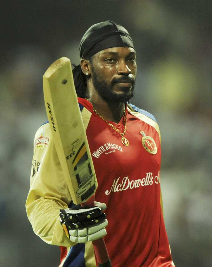 Royal Challengers batsman Chris Gayle once again starred with the bat, slamming 89 off 47 balls to power Bangalore to 185 against Mumbai Indians at Chennai.