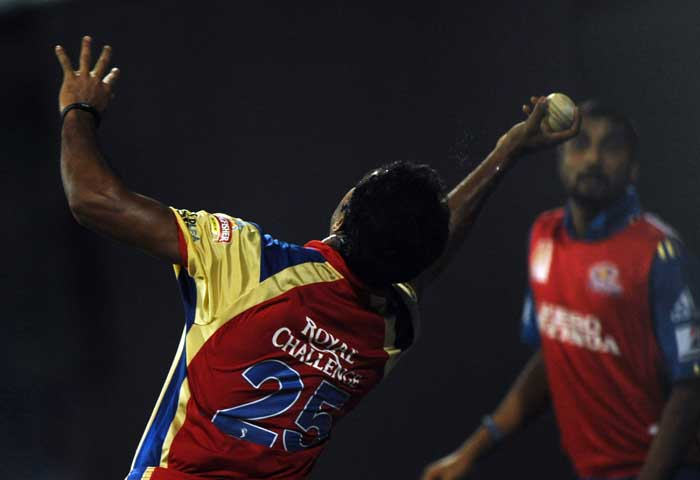 Royal Challengers Bangalore player Abhimanyu Mithun took a sensational catch on the boundary rope to dismiss an equally athletic Kieron Pollard of the Mumbai Indians.