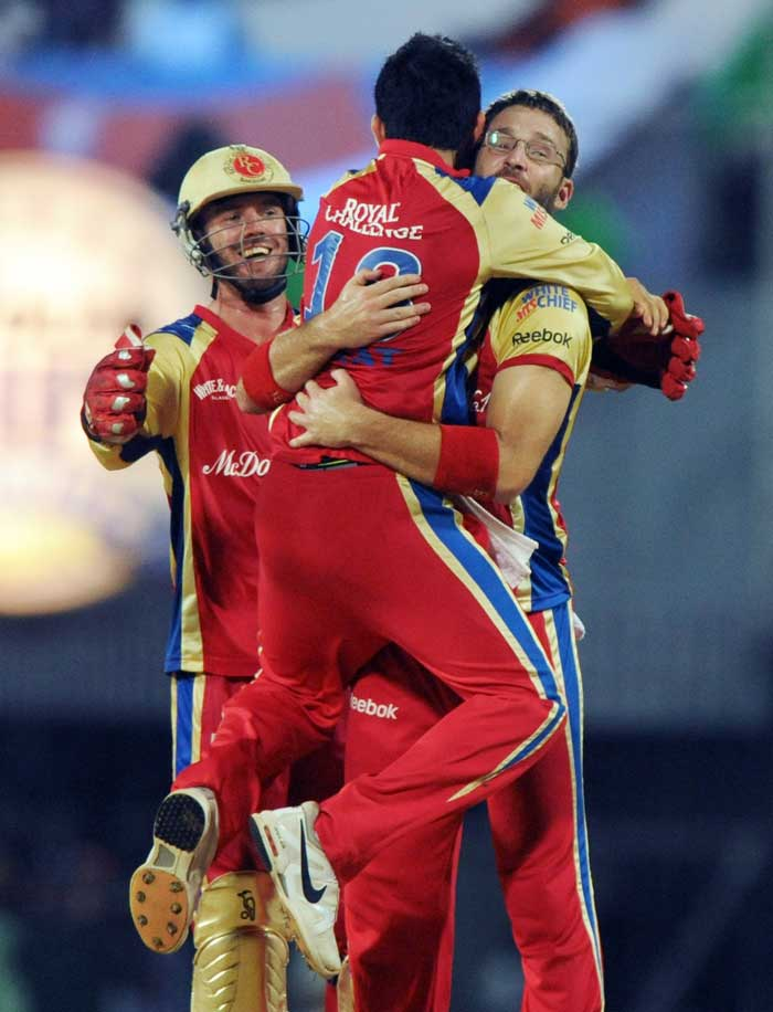 Royal Challengers Bangalore never let the Mumbai Indians batsmen settle down as they kept taking wickets at regular intervals.