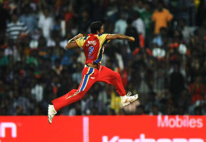 Royal Challengers Bangalore's Syed Mohammad also claimed 2 wickets including that of Mumbai Indians captain Sachin Tendulkar that sparked wild celebrations from the bowler.