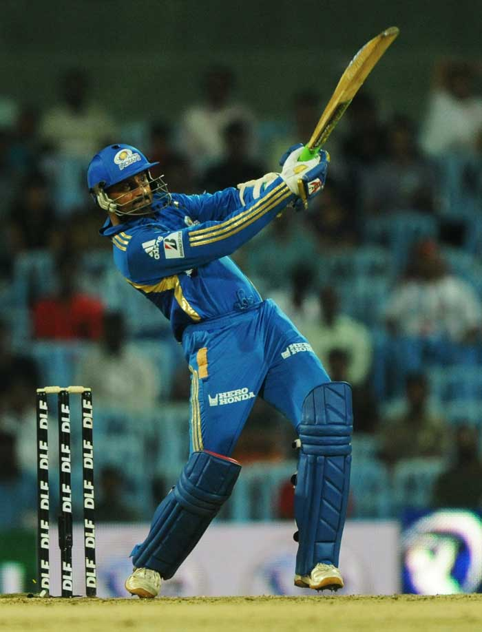 Mumbai Indians move to send Harbhajan Singh at No. 3 didn't prove too fruitful as the spinner fell for only 13 against Royal Challengers Bangalore at Chennai.