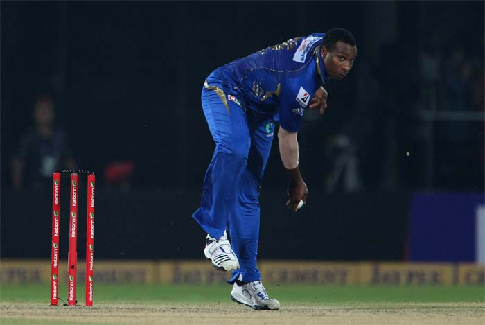Kieron Pollard struck at the right time to remove Evin Lewis. Harbhajan Singh, Mitchell Johnson, Pragyan Ojha and Nathan Coulter-Nile also picked up a wicket each.