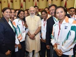 Photo : Prime Minister Narendra Modi Wishes Luck To India's Rio Olympics Contingent