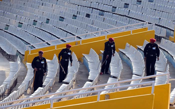 This is being re-checked by manual searches inside the stadium by personnel's of Chandigarh Police. Officials have said that close to 2200 cops have been deployed but reports suggest that the number may be more.