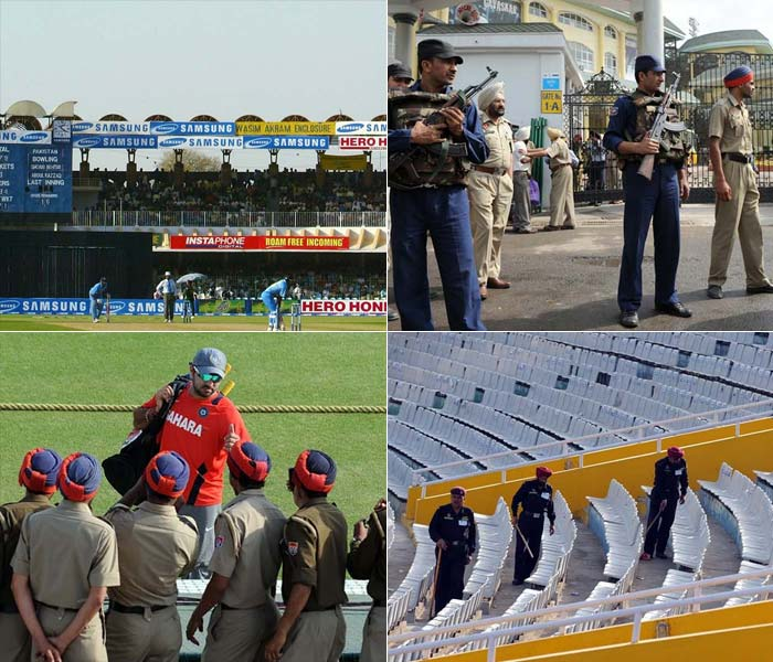 So can't go to Mohali for the match? You are probably better off watching it on television considering the security system put in place. NSG's, UAV's, CP's and all are all set to display tactical and defensive powers of India. And well, secure the match as well. (Getty and AFP images)