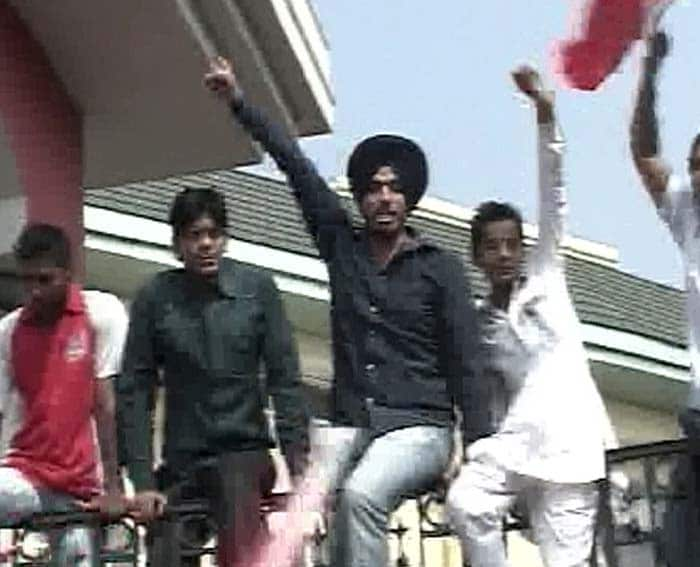 Livid supporters were shouting slogans demanding the ban to be revoked.