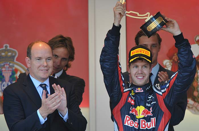 monaco grand prix 2011 podium. Vettel wins maiden Monaco GP