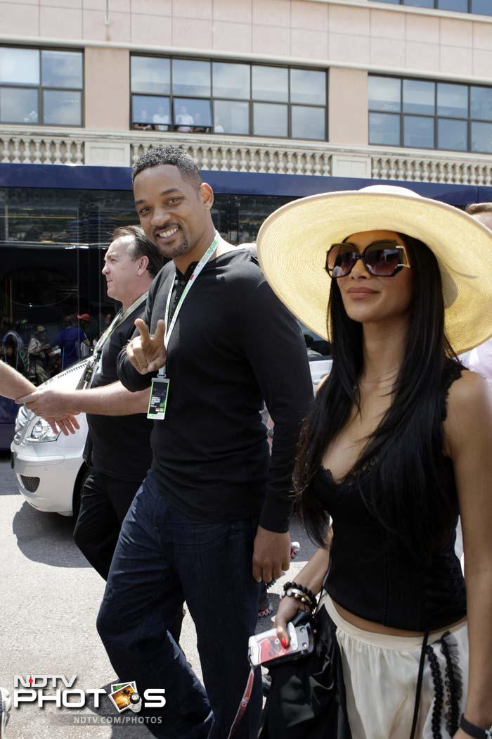Hollywood actor Will Smith was present for the qualifying session and is seen here with singer and Lewis Hamilton's girl-friend Nicole Scherzinger.