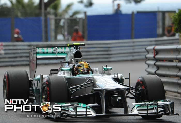 Teammate Lewis Hamilton qualified second, and the Brit will hope for a Mercedes 1-2 at the race on Sunday.
