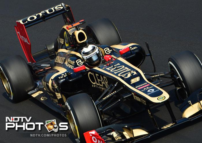 Kimi Raikkonen in his Lotus F1 car will start from the 7th position in the race.