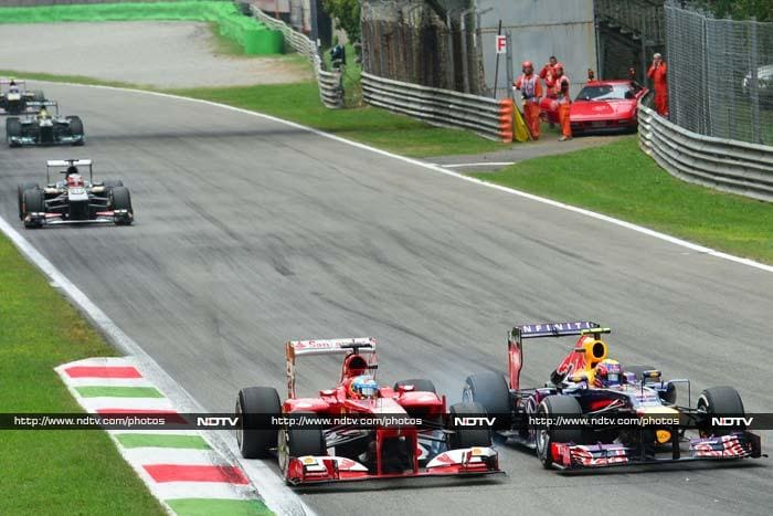 Fernando Alonso and Mark Webber - who finished 2nd and 3rd - were involved in a thrilling battle throughout the Grand Prix.