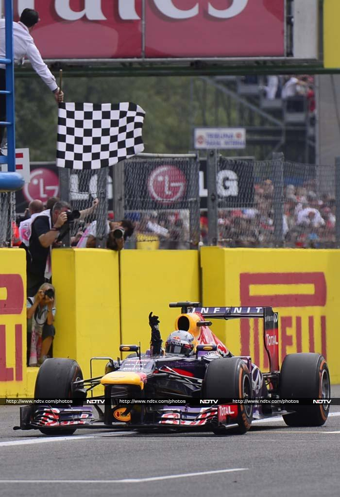 But, it was Vettel who took the chequered flag for his 32nd F1 victory - that equals him with Alonso on the all-time list.