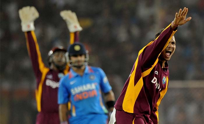 West Indian spinners too joined the party with Sunil Narine and Marlon Samuels clinching one wicket each.