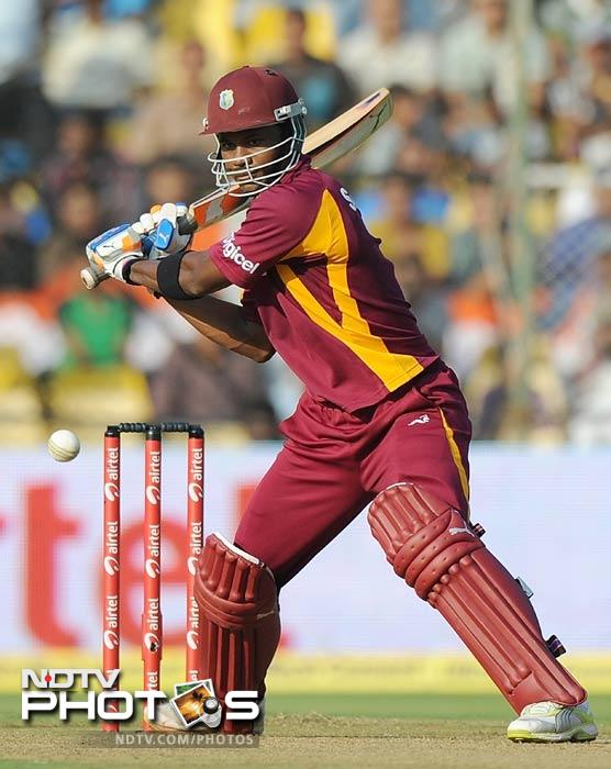 Marlon Samuels played a careful knock of 58 runs in 93 balls to give the Windies score the much needed impetus. R Ashwin though, had his own plans ready.
