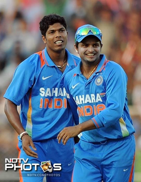 Umesh Yadav broke the crucial fourth wicket partnership between Denesh Ramdin and Pollard when the former tried to cut a rather wide delivery behind the wickets, but Parthiv Patel dived to his right to take a beauty.