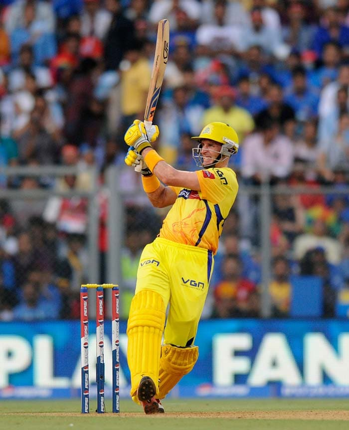 Chennai's reply was jittery right from the start. Michael Hussey was dropped thrice off three consecutive deliveries by Keiron Pollard. (BCCI image)