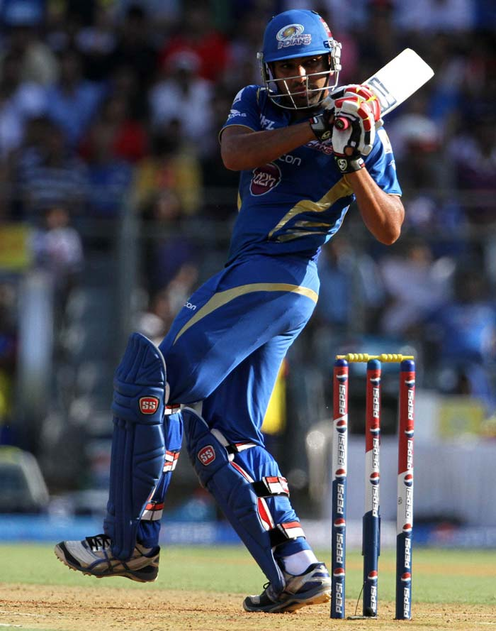Mumbai skipper Rohit Sharma remained unbeaten on 39 and his late shots took the team forward. (BCCI image)