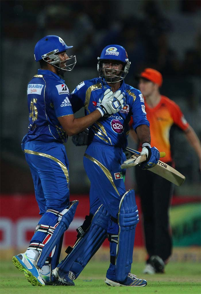 Ambati Rayudu hit consecutive sixes to help Mumbai romp home in 13.2 overs. Mumbai thus completed a 6-wicket mauling of Perth.
