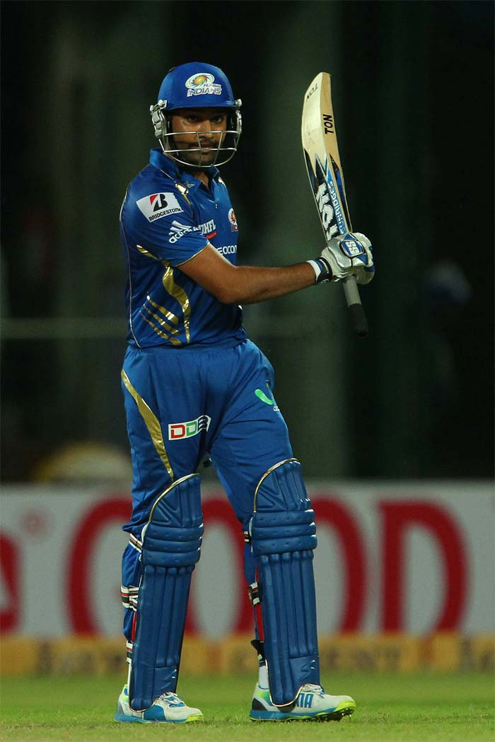 One Dwayne Smith was out, Mumbai skipper Rohit Sharma took centrestage and never allowed the scoring rate to dip. In fact, he upped the ante so much that literraly cruised in the final few over to get to the target. Rohit (51* off 24) hammered his 26th T20 fifty.