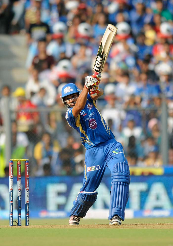 Rohit Sharma registered his 16th IPL half-century. On Saturday (April 13, 2013), Rohit hammered 3 fours and 5 huge sixes to help his side reach a more than challenging total. (BCCI image)