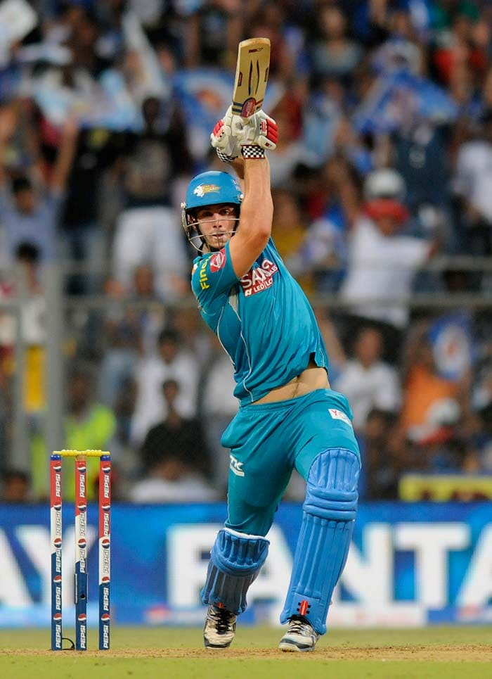 Mitchell Marsh did well to score two sixes and two fours to keep Pune in the hunt theoretically, but he always was short of a attacking partner from the other end. (BCCI image)