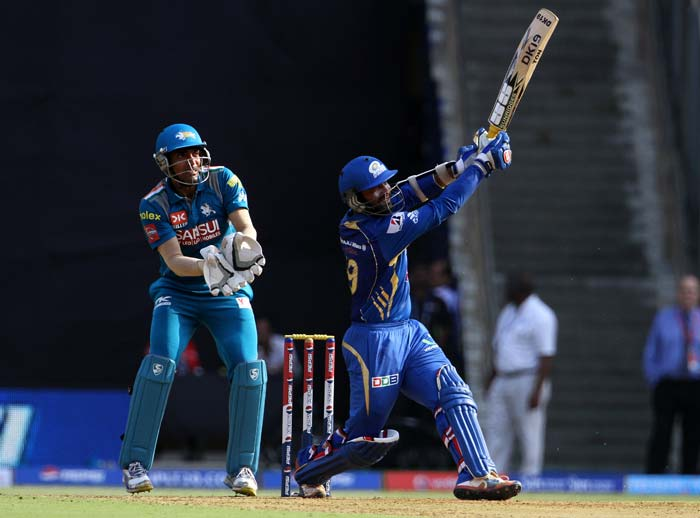 Dinesh Karthik continued his good form with the bat, becoming the first batsman to go past 200 runs in this year's edition so far. He fell for 41 and missed out on yet another half century. (BCCI image)