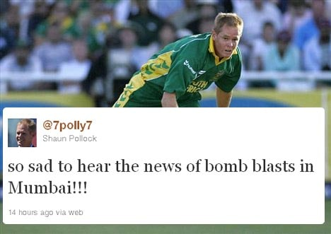 <b>Shaun Pollock:</b> Former South Africa skipper who was the bowling coach of the Mumbai Indians in the 2011 edition of the Indian Premier League, also expressed his sympathies.