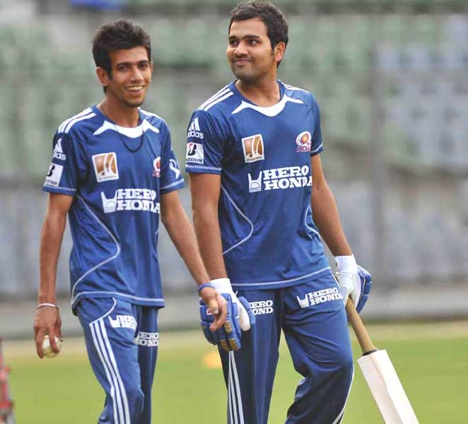"""Rohit Sharma has been one of the most prized players in the IPL. Here, he takes a stroll after a light training session with the bat. (Photo courtesy: <a href=""""http://www.mid-day.com//"""">Mid-day.com</a>)"""
