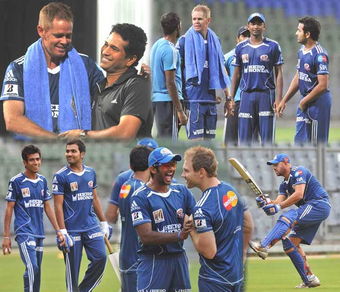 """They have had strong outings but have not been able to claim the title yet. With new players coming in, Mumbai Indians would hope to reverse their fortunes in the tournament. A look at what the team was up to a day before the opening match at Chennai. The team takes on Delhi Daredevils on Sunday. (Photo courtesy: <a href=""""http://www.mid-day.com//"""">Mid-day.com</a>)"""