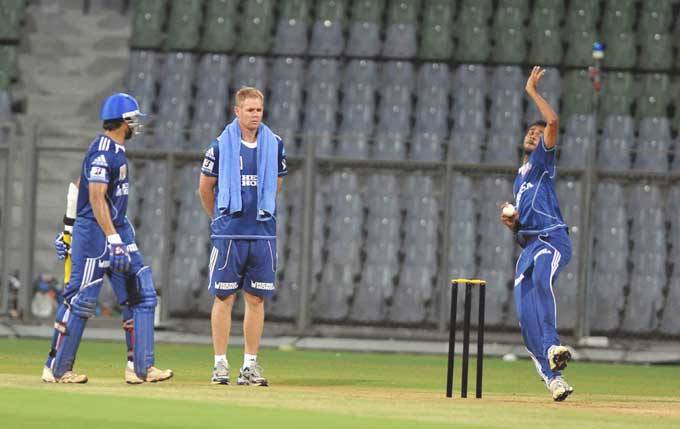 """Under the watchful eyes of Pollock, the bowlers in the side will have a tough time meeting with what may just be high standards of pace and spin. (Photo courtesy: <a href=""""http://www.mid-day.com//"""">Mid-day.com</a>)"""
