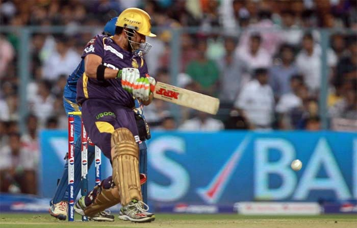 Gautam Gambhir took over and lashed out against Mumbai bowlers. He scored 26 off 20 deliveries. (BCCI image)